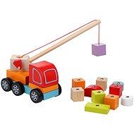 Cubika 13982 Autojeřáb s magnetem - Dřevěná hračka