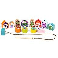 Cubika 14309 Navlékací pohádka - navlékací set  - Dřevěná hračka