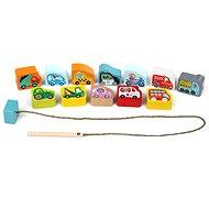 Cubika 14316 Navlékací dopravní prostředky  - Dřevěná hračka