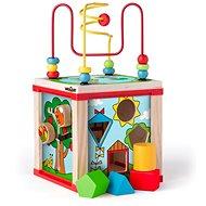 Woody Didaktická kostka malá s magickými kolečky - Didaktická hračka