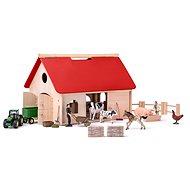 Woody Farma s příslušenstvím a zvířaty Romano - Dřevěná hračka