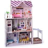 Domeček pro panenky Woody Růžový domeček s výtahem Malibu