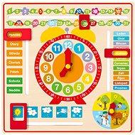 Woody Víceúčelový kalendář s hodinami CZ - Didaktická hračka