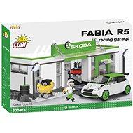 Cobi Škoda Fabia R5 Racing garáž - Stavebnice