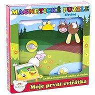 Teddies Magnetické puzzle Moje první zvířátka - Stavebnice
