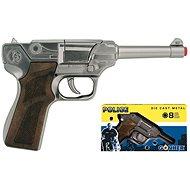 Policejní pistole stříbrná - Dětská zbraň