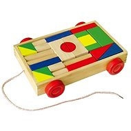 Vozík malý dřevěný - Kostková hra