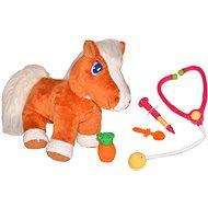 Uzdravený koník, malý veterinář - Plyšová hračka