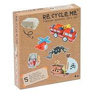Set Re-cycle me pro kluky – stojan na vajíčka - Hrací set