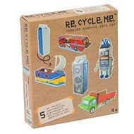 Set Re-cycle me pro kluky – karton od mléka - Herní set