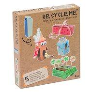 Set Re-cycle me pro holky – karton od mléka - Herní set