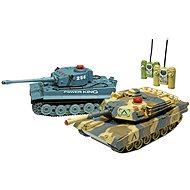 Bitevní set Tiger a Abrams - 2 tanky - Tank na dálkové ovládání