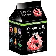 Mini chemická sada krystaly - koruna s diamanty - Experimentální sada