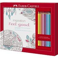 Faber-Castell Dárková Sada Omalovánky Feel Good + Pastelky Grip 2001, 8ks - Kreativní sada