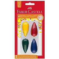 Faber-Castell Plastic Crayons, 4 Colours - Coloured Pencils