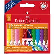 Faber-Castell Erasable Grip Crayons, 12 Colours - Coloured Pencils