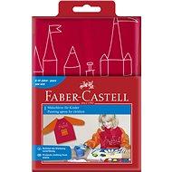 Faber-Castell Zástěra na malování červená - Dětská zástěra