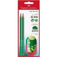 Faber-Castell Grafitová Tužka Grip 2001 2 ks + Ořezávátko Kids - Sada kancelářských potřeb