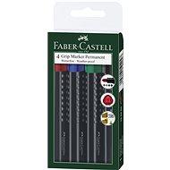 Faber-Castell Grip Marker Permanent, 4 ks - Sada kancelářských potřeb