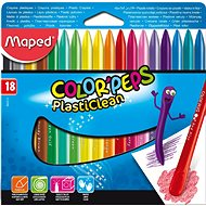 Maped Color Peps Plasticlean, 18 barev  - Pastelky