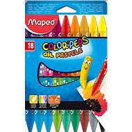 Maped Color Peps Oil Pastels, 18 barev - Pastelky