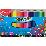 Maped Color Peps Metal Box, 36 barev - Pastelky