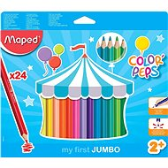 Maped Color Peps Jumbo, 24 barev - Pastelky