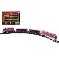 Vlak + 3 vagóny s kolejemi 16 ks - Vláčkodráha