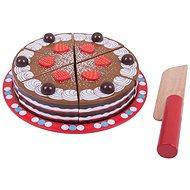 Bigjigs Krájecí dřevěný dort - Herní set