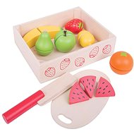 Bigjigs Wooden Play Food Cutting Fruit - Game set
