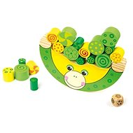 Small foot Dřevěná motorická hra Balancující žába - Hra