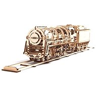 UGEARS 3D Mechanical steam locomotive with tender - Building Kit