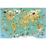 Vilac Nástěnná magnetická mapa světa 78 dílků - Puzzle