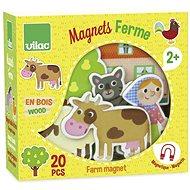 Vilac Dřevěné magnetky Farma 20ks - Herní set