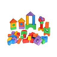Kostky barevné 50 ks - Pěnové puzzle