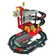 Bburago Ferrari Race & Play Parking Garage + 4ks auto Ferrari 1:43 - Herní set