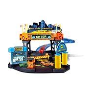 Bburago Street Fire Skyline garáž hrací set + 1ks auto v krabičce 1:43 - Herní set