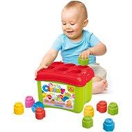 Clementoni Clemmy baby Prostrkovací kyblík s 18 kostkami - Hračka pro nejmenší