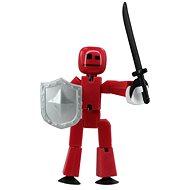 StikBot Figurka s doplňky - zbraně - šedý štít - Kreativní sada