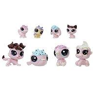Littlest Pet Shop Frosting Frenzy set 8 ks zvířátek - jahodová barva