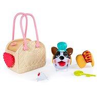 Chubby Puppies Módní set s nosičem a zvířátkem - Figurka