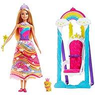 Barbie Princezna s duhovou houpačkou - Panenka