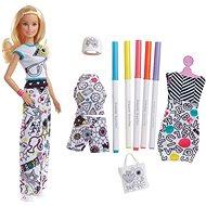 Barbie D.I.Y. Crayola vybarovování šatů běloška - Panenka