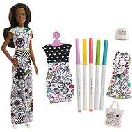Barbie D.I.Y. Crayola vybarovování šatů černoška - Panenka