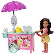 Barbie Chelsea a doplňky s tmavými vlasy
