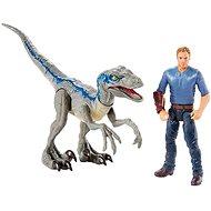Jurský svět Dinopříběh Velociraptor Blue a Owen - Figurky