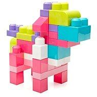 Mega Bloks Pytel kostek (80) růžový - Stavebnice