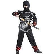 Stříbrný ninja vel. M - Dětský kostým