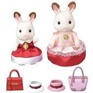 Sylvanian Families Město - chocolate králičí maminka s dcerou - Herní set