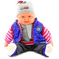 Miminko kluk - fialová vesta - Panenka